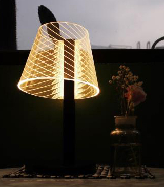 Настольная лампа HomeTree Kong Wireless Lamp Black Line из каталога интернет-магазина MaxHall