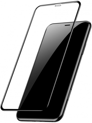 Защитное стекло Baseus 0.3mm Full-glass (2pcspack+Pasting Artifact) for iPhone 11 Pro Max(2019)Black - защита для экрана телефона